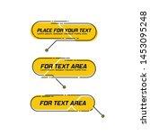 digital callouts titles. set of ... | Shutterstock .eps vector #1453095248