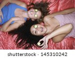 overhead view of two teenage... | Shutterstock . vector #145310242