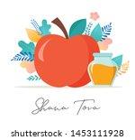 rosh hashana  jewish holiday.... | Shutterstock .eps vector #1453111928