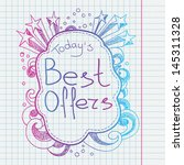 doodle banners for sale in e... | Shutterstock .eps vector #145311328