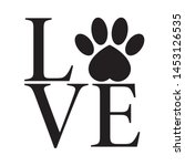 vector black sticker logo love... | Shutterstock .eps vector #1453126535