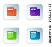 color news icon isolated on... | Shutterstock .eps vector #1453136465