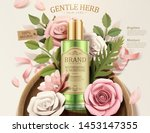 gentle herb toner ads with... | Shutterstock .eps vector #1453147355