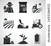 Agriculture And Tractor Icons...