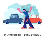 upset driver after car accident ...   Shutterstock .eps vector #1453190012