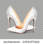 Pair Of White Female Pumps On ...