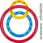 circular vector calendar...   Shutterstock .eps vector #1453200158