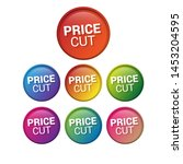 price cut   glossy labels or... | Shutterstock .eps vector #1453204595