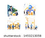 set of people working with...   Shutterstock .eps vector #1453213058