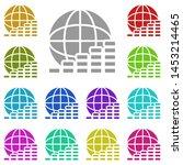 coin  commerce multi color icon....