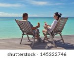 happy young couple relax and... | Shutterstock . vector #145322746