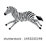 African Zebra Running Side View ...