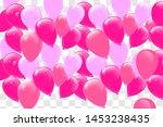 happy birthday typography... | Shutterstock .eps vector #1453238435