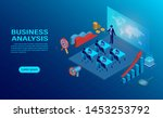 business analysis concept with...   Shutterstock .eps vector #1453253792