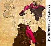 vector retro  vintage  grunge... | Shutterstock .eps vector #145326712