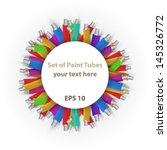 vector set of paint tubes... | Shutterstock .eps vector #145326772