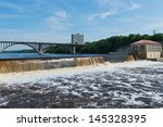 minnehaha falls on the...   Shutterstock . vector #145328395