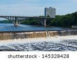 minnehaha falls on the...   Shutterstock . vector #145328428