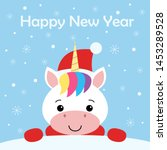 cute new year or christmas... | Shutterstock .eps vector #1453289528