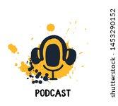 studio microphone vector.... | Shutterstock .eps vector #1453290152