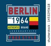 berlin image typography design... | Shutterstock .eps vector #1453295618