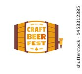 beer fest hand drawn flat color ... | Shutterstock .eps vector #1453312385
