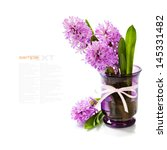 beautiful hyacinths in vase... | Shutterstock . vector #145331482