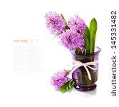 beautiful hyacinths in vase...   Shutterstock . vector #145331482