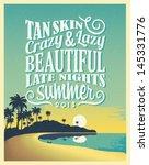 retro vintage summer poster... | Shutterstock .eps vector #145331776