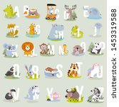 animal alphabet graphic a to z. ... | Shutterstock .eps vector #1453319588