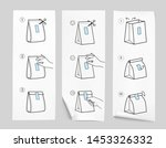 reusable closing packing guide... | Shutterstock .eps vector #1453326332