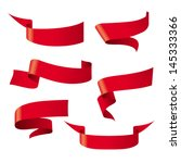 red ribbon patterns | Shutterstock vector #145333366