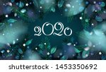 green new year forest... | Shutterstock .eps vector #1453350692