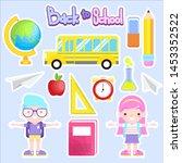 back to school vector... | Shutterstock .eps vector #1453352522