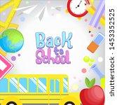 back to school vector... | Shutterstock .eps vector #1453352525