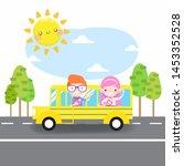 back to school vector... | Shutterstock .eps vector #1453352528