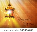 hanging illuminate arabic... | Shutterstock .eps vector #145336486