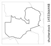 map of zambia black thick... | Shutterstock .eps vector #1453366448