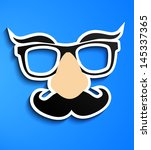 mustache glasses eyebrows | Shutterstock .eps vector #145337365