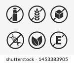 set of icons  gluten free ... | Shutterstock .eps vector #1453383905
