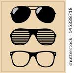 set of sunglasses. vector...   Shutterstock .eps vector #145338718