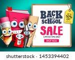 back to school sale with school ... | Shutterstock .eps vector #1453394402