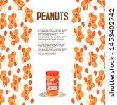 peanut butter plastic jar...   Shutterstock .eps vector #1453402742