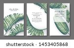 tropical  trendy  greeting or... | Shutterstock .eps vector #1453405868