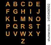 english alphabet b font is made ... | Shutterstock .eps vector #1453408502