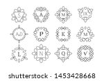 line art logo template set.... | Shutterstock . vector #1453428668
