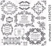 vector set  calligraphic design ... | Shutterstock .eps vector #145347025