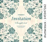 invitation  card with floral ... | Shutterstock .eps vector #145347262