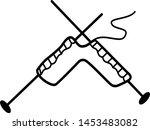 knitting concept  knitting... | Shutterstock .eps vector #1453483082