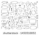 doodle vector arrows and design ... | Shutterstock .eps vector #1453510052